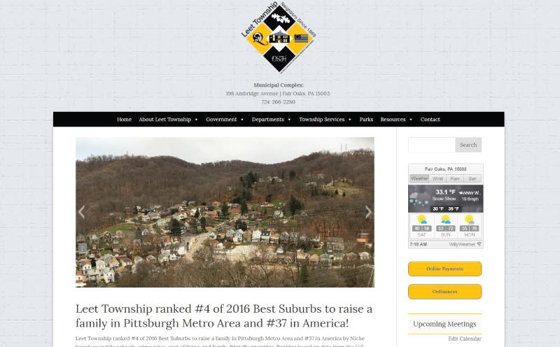 Leet Township Website Design