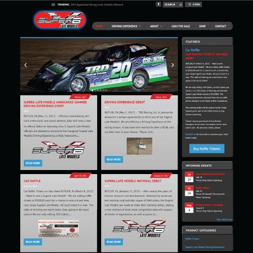 Super6Late Models Website Design