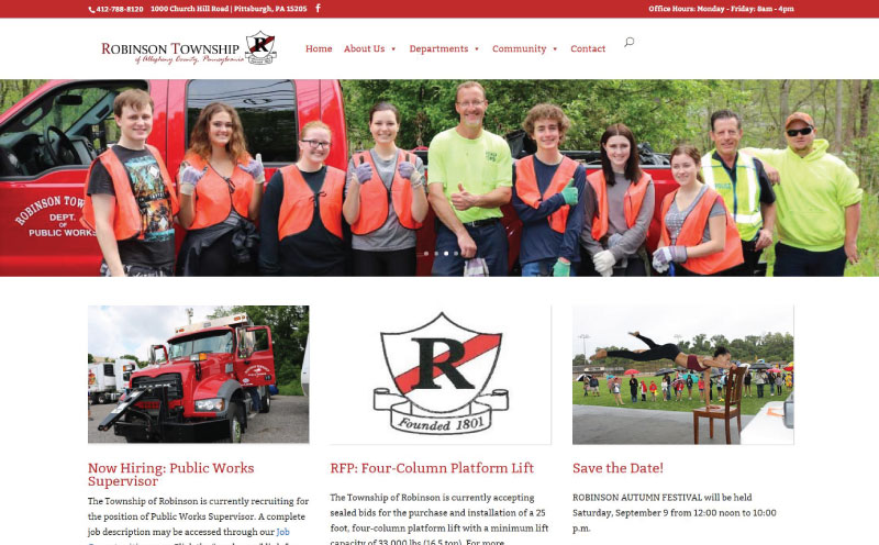 Robinson Township Website re-design