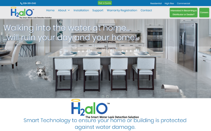 H2alO Website Design