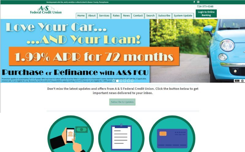 A&S Federal Credit Union Home Page