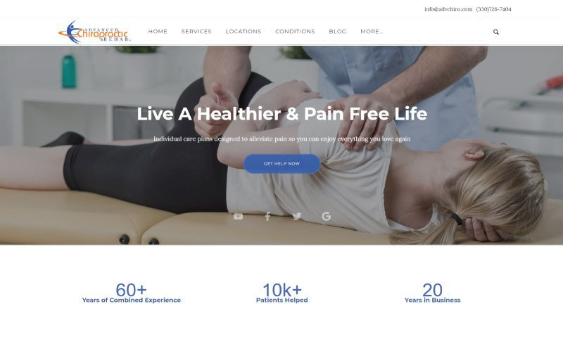 Advanced Chiropractic Home Page Screenshot