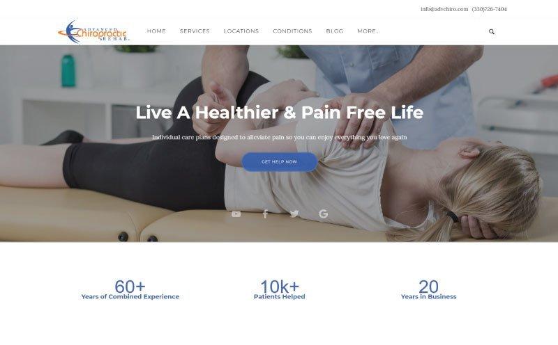 Advanced Chiropractic & Rehab, Inc. Website Design