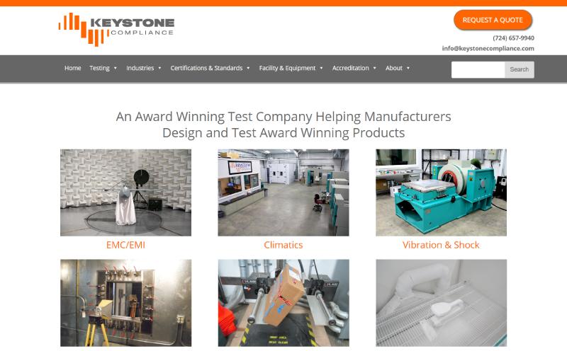 Keystone Compliance Website Design