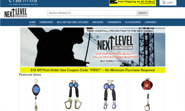 Next Level Fall Protection E-Commerce Website Design