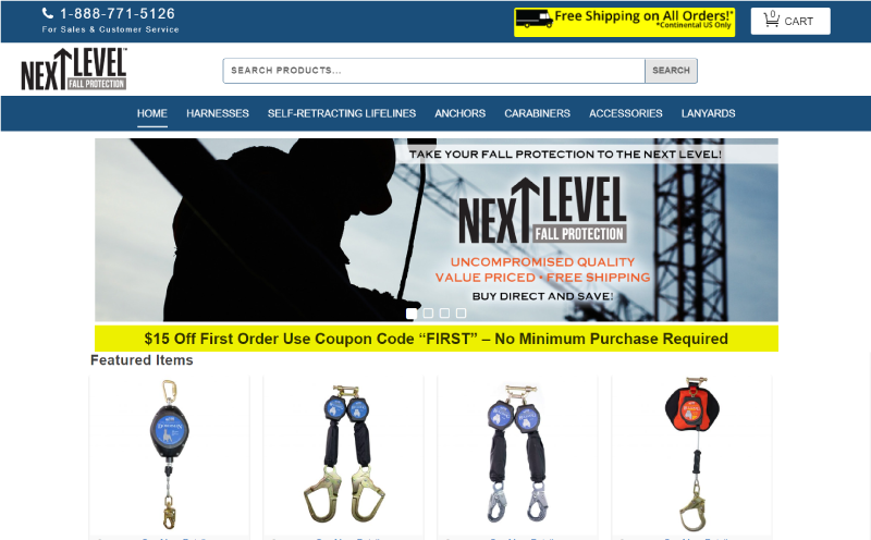 Next-Level-Fall-Protection-Ecommerce-Website-Design