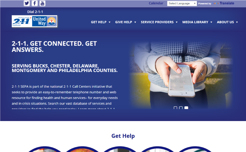 PA United Way 2-1-1 Website Redesign