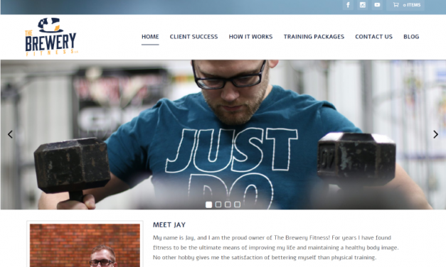 The Brewery Fitness E-Commerce Website Design