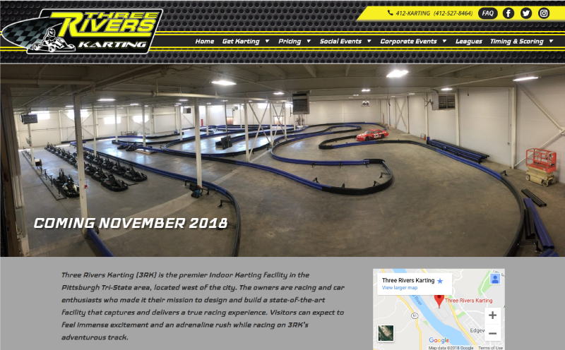 Three Rivers Karting Website Design