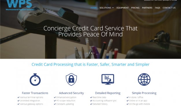 Westmoreland Payment Services Web Design