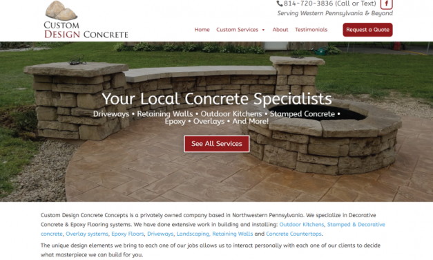 Custom Design Concrete Concepts Website Design