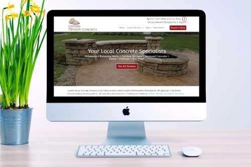 Custom Design Concrete Concepts Website Design