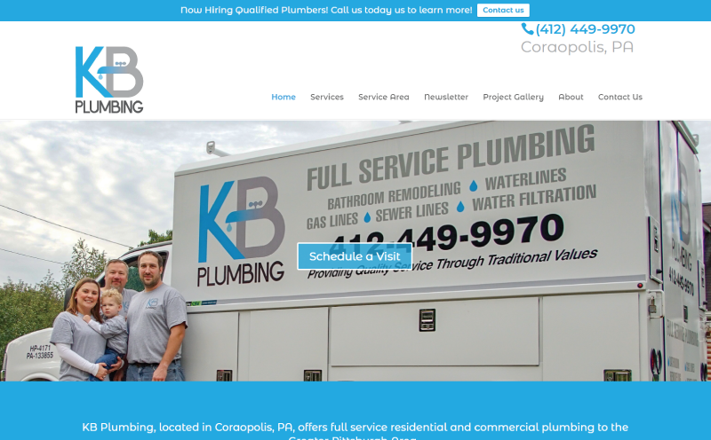 KB-Plumbing Pittsburgh Website Design