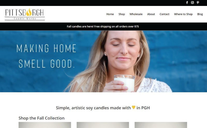 Pittsburgh Candle Works Website Design