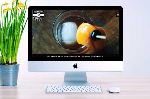 Breakneck Tavern Restaurant Website Design