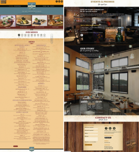 Breakneck Tavern Website Before Redesign