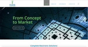 Homepage of brochure website