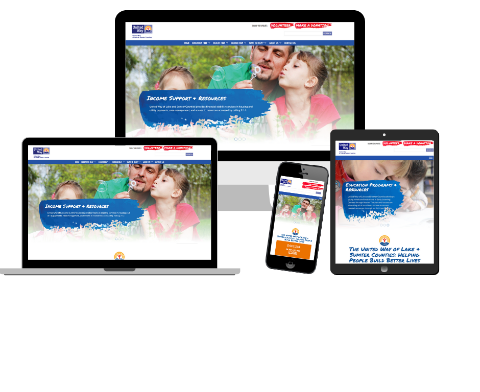 The United Way of Lake & Sumter Counties Website Redesign